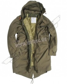 US army SHELL HOODED PARKA M51