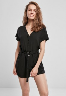 Ladies Short Viscose Belt Jumpsuit Carmen