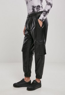 Ladies Faux Leather Cargo Pants TANIA