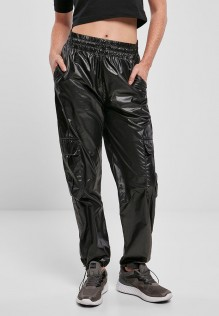 Ladies Shiny Cargo Track Pants LIDIA