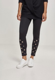 Ladies Eyelet Leggings Bianca