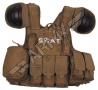 Combat tactical Vest - Brown